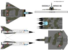 4D model template of Dassault Mirage III (1). #4dpa, #MarigeIII. Paper Airplane Models, Model Airplanes, Paper Models, Paper Planes, Cardboard Model, Paper Art, Paper Crafts, Paper Aircraft, Crafting