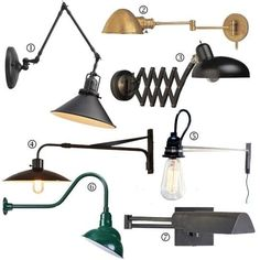 In a tiny bedroom a wall mount lamp can give you ample reading light without taking up space on a bedside table (if there is room for a bedside table). The seven lamps shown here are all plug-in and most features swing-arms for ultimate usability. | Tiny Homes