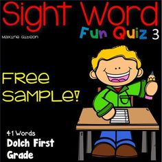 / Free Sample / Sight Word Dolch Pre-Primer / Sight Word Activities / Sight Word Practice / Printables / No Prep / ***A fun quiz to learn sight word!*** This set is a fun way to practice sight word with. Equipped with quiz formatted Fluency Activities, First Grade Activities, Sight Word Activities, Reading Activities, Kindergarten Freebies, Kindergarten Reading, Kindergarten Handwriting, Handwriting Practice, Kindergarten Classroom