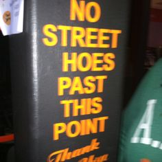 No street hoes past this point. Thank you!