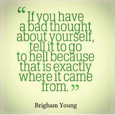 Like John Eldridge says. Your heart is good. If you think something that isn't good-rebuke it. That's not you.