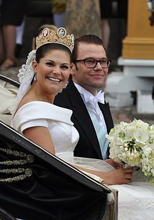 Victoria, Crown Princess of Sweden (Born 1977). Daughter of Carl XVI Gustaf and Queen Silvia. She's married to Prince Daniel, and had one daughter.
