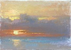 Mala Sunset by Colleen Howe Bleinberger Pastel ~ 9 x 12