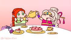 TEA PARTY! : Paladins Paladins Champions, Fb Page, Cassie, Tea Party, Chibi, Doodles, Fan Art, Comics, Videogames