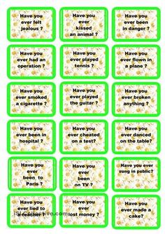 Speaking cards Present Perfect.