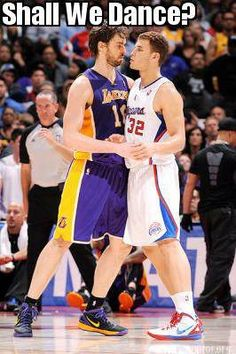 Shall we dance? #NBA #Clippers #Lakers