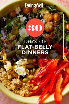 30 Days of Flat-Belly Dinners Healthy Eating Habits, Healthy Diet Plans, Real Food Recipes, Diet Recipes, Healthy Recipes, Recipies, Egg Diet Results, Zero Carb Diet, Low Carb