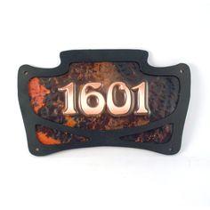 Art Nouveau Address sign