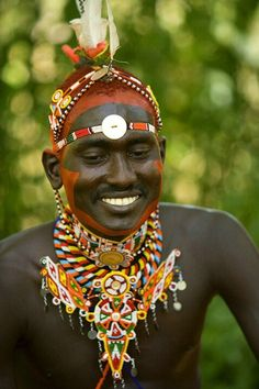 Samburu warrior, Samburu National Park, Kenya Kenya.