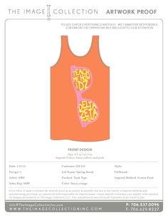 Delta Zeta Spring Break Tanks from @TheImageCollection. Get your spring and summer tanks from us. Did we mention FREE PROOFS?!