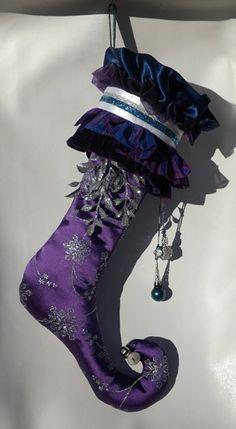 Purple Jester Christmas Stocking by Threadbanger2012 on Etsy, $69.99