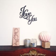 "Décoration murale "" I Love You ""  #homedecor #deco #iloveyou #lapetitecreative #home #lasercut  #décorationmurale by la_petite_creative"