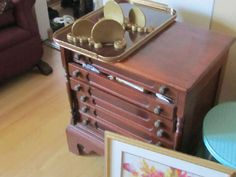 Found on EstateSales.NET: Coats spool cabinet