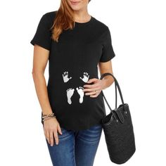1f90dbfc512 Maternity Hands and Feet Graphic Tee