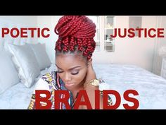 HOW TO | POETIC JUSTICE BRAIDS ON SHORT NATURAL HAIR | BIG BOX BRAIDS - YouTube