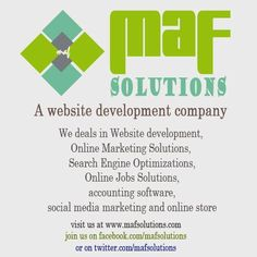 A Solutions Provider Company. We deals in Website development, Online Marketing Solutions, Search Engine Optimizations,Online Jobs Solutions,accounting software,social media marketing and online store Online Marketing, Social Media Marketing, Website Development Company, Accounting Software, Search Engine Optimization, Online Jobs, Store, Larger, Shop