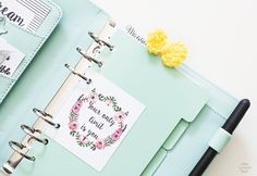 Bullet journal / personal planner motivational quotes cards. Free printable.