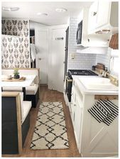 Fabulous RV Kitchen Remodel Ideas That You Have To Know - Making a great small kitchen remodeling design points you to the many different cabinet designs and surface patterns providing your small kitchen a superb sense of space. Camper Kitchen, New Kitchen, Kitchen Decor, Kitchen Ideas, Kitchen Design, Cheap Kitchen, Kitchen Inspiration, Architecture Renovation, Home Renovation