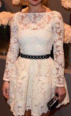 Sexy lace stitching dress