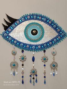 Clay Wall Art, Ceramic Wall Art, Evil Eye Art, Bargello Patterns, Eye Illustration, Vintage Pop Art, Safari Decorations, Spiritual Decor, Hand Painted Fabric