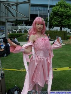 Lacus Clyne Cosplay from Gundam Seed in Summer Comiket 78 2010 Tokyo