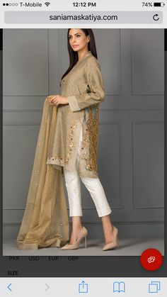 Bring a glamorous uplift to your 2018 wardrobe with Sania Maskatiya aesthetic clothing range from formal dresses to luxury Pret wears collection. Pakistani Outfits, Indian Outfits, Eastern Dresses, Modest Dresses, Indian Dresses, Dress Patterns, Indian Fashion, Stylish Outfits, Designer Dresses