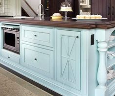 Microwaves islands and kitchen islands on pinterest for Better homes and gardens kitchen island ideas