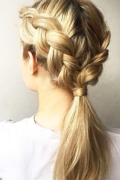 There are millions of options for what to do with a ponytail braid. It is up to you who you want to be today, either a rock star or a school teacher!