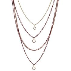 Designsix Eden Multirow Ditsy Necklace (47 VEF) ❤ liked on Polyvore featuring jewelry, necklaces, accessories, colar, layered chain necklace, multi-chain necklace, curb chain necklace, multi strand chain necklace and chains jewelry