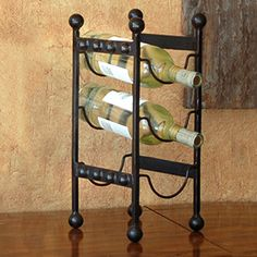 Royal 3 Bottle Wine Rack in Wrought Iron | Rain Collection - #Sale $39.99.
