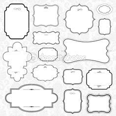 Set of Ornate Vector Frames — Стоковая фотография #3527191