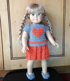 Free Crochet Patterns For 18 In Doll Clothing - Knitting Bordado Crochet Doll Pattern, Crochet Dolls, Crochet Patterns, Crochet Ideas, Crochet Projects, Knitting Patterns, Crochet Crafts, Free Knitting, Crochet Tutorials