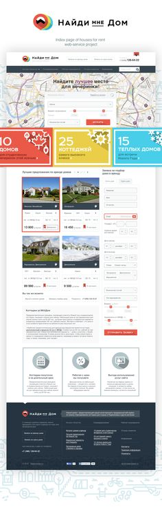 Real Estate for Rent Service by Anton Shineft, via Behance