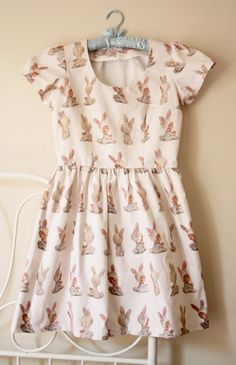 Size 10 ***** The Bunny Angel dress - an original design by Caitlin Shearer