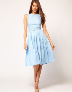 ASOS Belted Midi Summer Dress