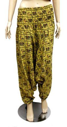 Boho Hippie, Bohemian, Cotton Pants, Krishna, Parachute Pants, Harem Pants, India, Yoga, Amazon