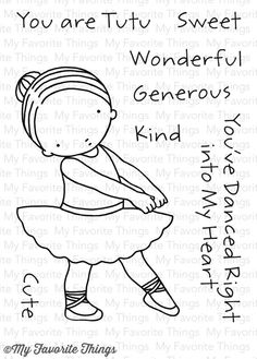 Pure Inncocence TUTU CUTE Clear Stamps MFT PI238 zoom image
