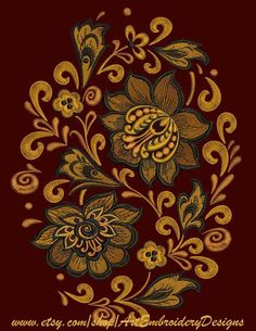 Border Embroidery Designs, Embroidery Suits Design, Embroidery Works, Folk Embroidery, Embroidery Software, Machine Embroidery Designs, Embroidery Patterns, Russian Embroidery, Embroidery Saree