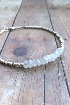 Rainbow Moonstone Bracelet, Hill Tribe Silver Jewelry, Tiny Bead Bracelet More