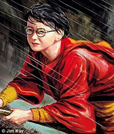Artist Jim Kay was 'terrified' when JK Rowling chose him to illustrate a lavish new set of Potter books. Harry Potter Jim Kay, Harry Potter Fan Art, Harry Potter Characters, Harry Potter Hogwarts, Harry Potter Illustrations, Ron Weasley, Beautiful Stories, Marketing Digital, Twilight