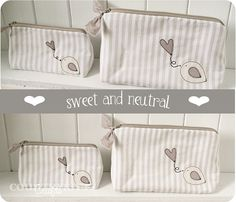 neutral pochettes by countrykitty, via Flickr