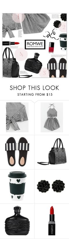 """B & W 2 piece"" by jckallan ❤ liked on Polyvore featuring Miss Étoile, Smashbox and Chanel"
