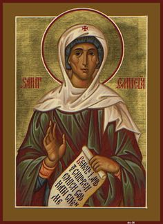 St. Emmelia May 8th  Troparion  Through thee the divine likeness was securely preserved, O Mother Emmelia; for thou didst carry the cross and follow Christ. By example and precept thou didst teach us to ignore the body because it is perishable, and to attend to the concerns of the undying soul. Therefore, doth thy soul rejoice with the angels. She was the mother of St Basil the Great, St. Macrina, St. Gregory of Nyssa and St. Peter of Sebaste.