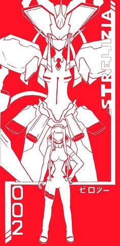 Zero Two - Strelizia by Ma-chan Zero Two, Darling In The Franxx, Canvas Prints, Art Prints, Boy Or Girl, Anime Art, Nerd, Manga, Comics