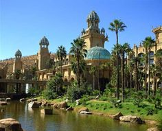 Palace of the Lost City at Sun City in North West, South Africa Sun City South Africa, South Africa Tours, Sun City Resort, North West Province, African Holidays, Namibia, Exploration, Fantasy Places, Lost City