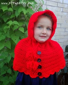 Free Crochet Pattern ~Lost In The Woods Hooded Cape