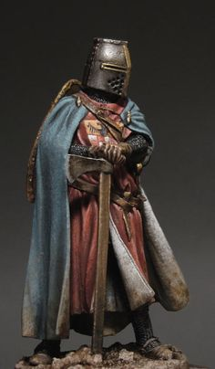 Germanic Knight XIII Ct from Romeo Models/ Easy conversion by Sergey Popovichenko Medieval Knight, Medieval Armor, Medieval Fantasy, Crusader Knight, Knight Armor, Arte Dark Souls, Armor Clothing, Armadura Medieval, Templer