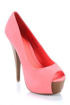 Pink peep toe stillettos