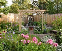 Garden Room: Frame the view. An arbor or arch is one clever way to provide vertical growing space and add bucket loads of character at the same time. Use reclaimed materials to minimise cost like ladders for the horizontal at the top & side 'walls'. More vertical inspiration @ http://themicrogardener.com/add-space-with-creative-vertical-gardens-part-1/ | The Micro Gardener
