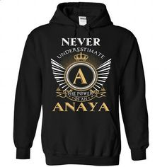 20 Never ANAYA - #tshirt fashion #pullover sweater. BUY NOW => https://www.sunfrog.com/Camping/1-Black-86101110-Hoodie.html?68278
